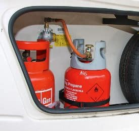 Caravan Gas Locker