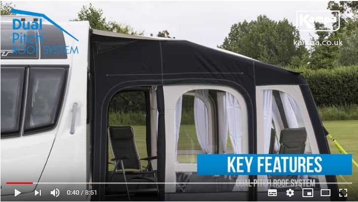 Kampa Inflatable Caravan Air Awning Dual Pitch Feature
