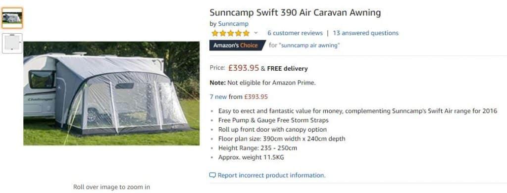 SunnCamp Amazon Reviews