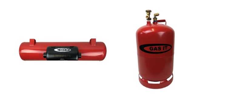 GAS IT Refillable LPG Bottles for caravans and motorhomes