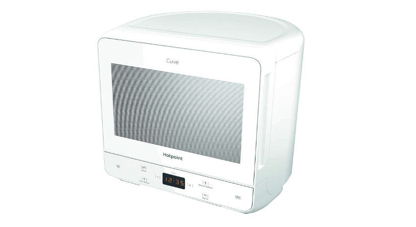Hotpoint Curve 700W microwave for caravans and motorhomes