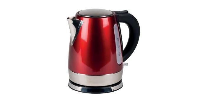 Red Kampa low wattage caravan kettle