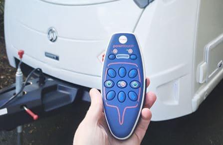 Caravan motor mover remote