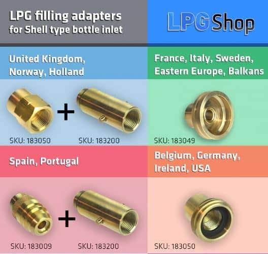 Refillable LPG Bottle Adapters