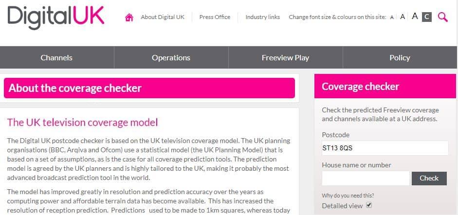 Digital UK Coverage Checker