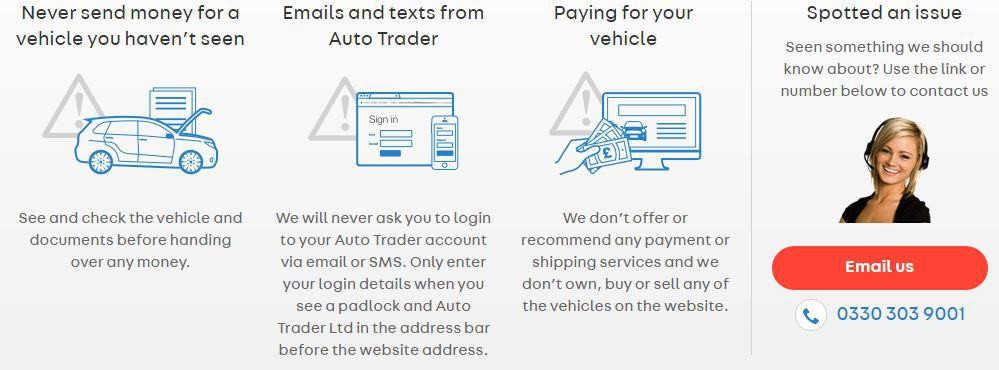 How to stay safe when using Autotrader to sell or purchase a private sale motorhome.