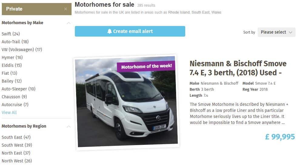 Caravans For Sale Private Motorhome Sales
