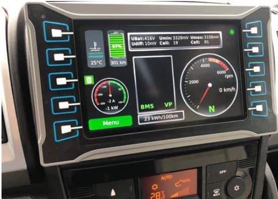 Electric Motorhome Dashboard