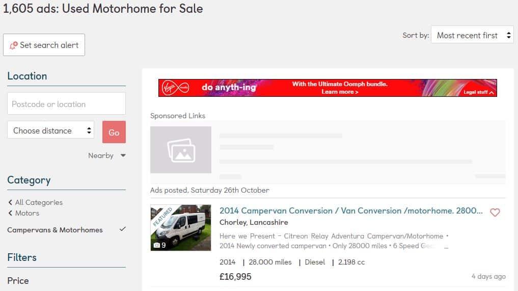 Gumtree Private Motorhome Sales