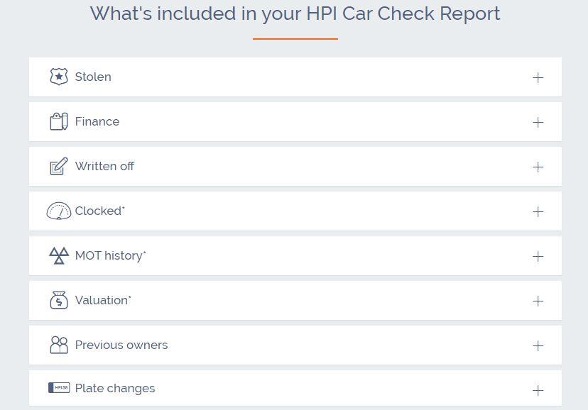 Motorhome HPI Check