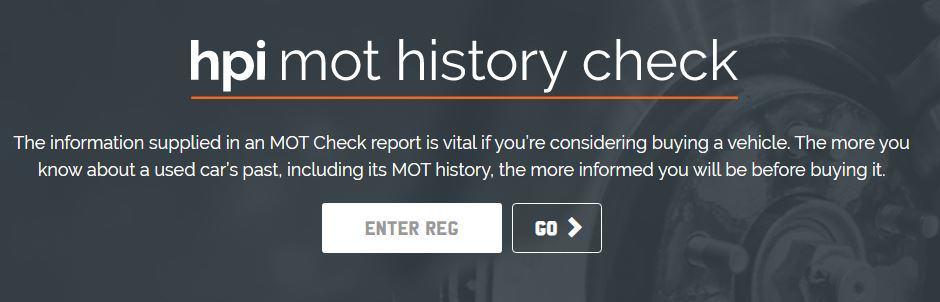 HPI MOT History Check