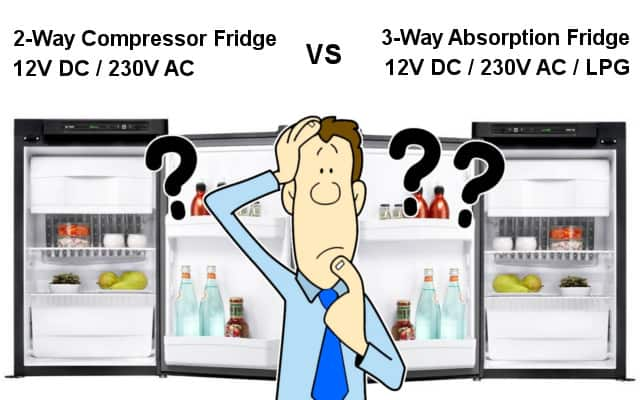2-Way Compressor Fridge vs 3-Way Absorption Fridge for Caravans, Campervans and Motorhomes