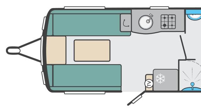 Caravan Layout Front Lounge