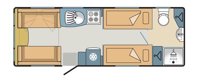 Fixed Single Bed Caravan Layouts