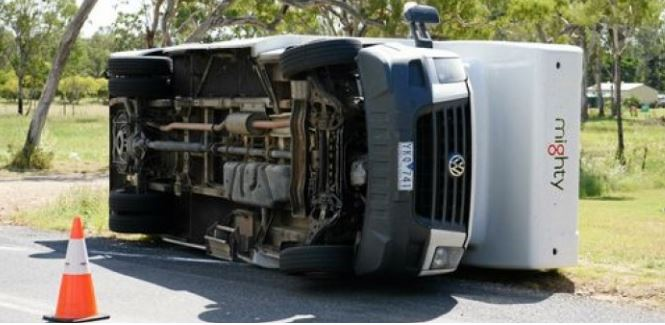 Motorhome Tipped Over