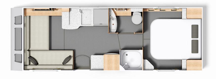 Split Bathroom Caravan Layout