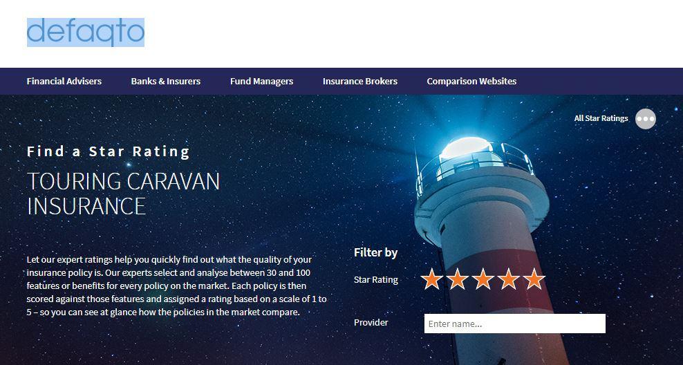 Defaqto Best Caravan Insurance Companies